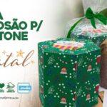 Caixa Explosao Panetone para Natal