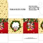 Caixa Kit Colorir Natal Mickey e Minnie