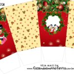 Caixa Pipoca Natal Mickey e Minnie