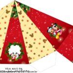 Caixa Piramide Natal Mickey e Minnie