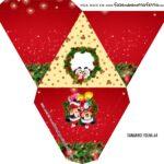 Caixa Piramide Personalizada Natal Mickey e Minnie