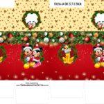 Caixinha Milk Natal Mickey e Minnie