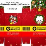Caixinha de Remedio Personalizada Natal Mickey e Minnie