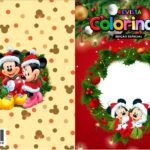 Capa Livrinho para Colorir Natal Mickey e Minnie