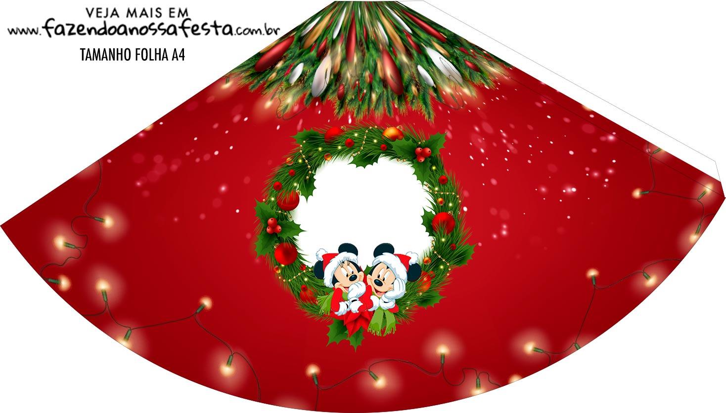 Chapeu de Festa Personalizado Natal Mickey e Minnie