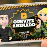 Convite Animado Free Fire Gratis