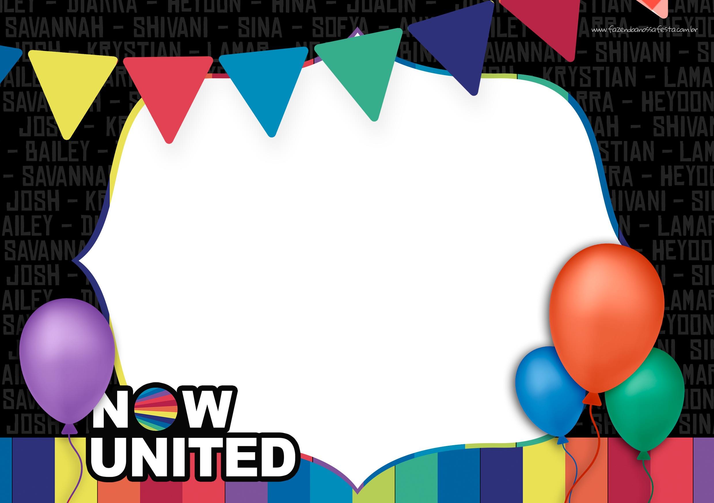 Convite Festa Now United 2