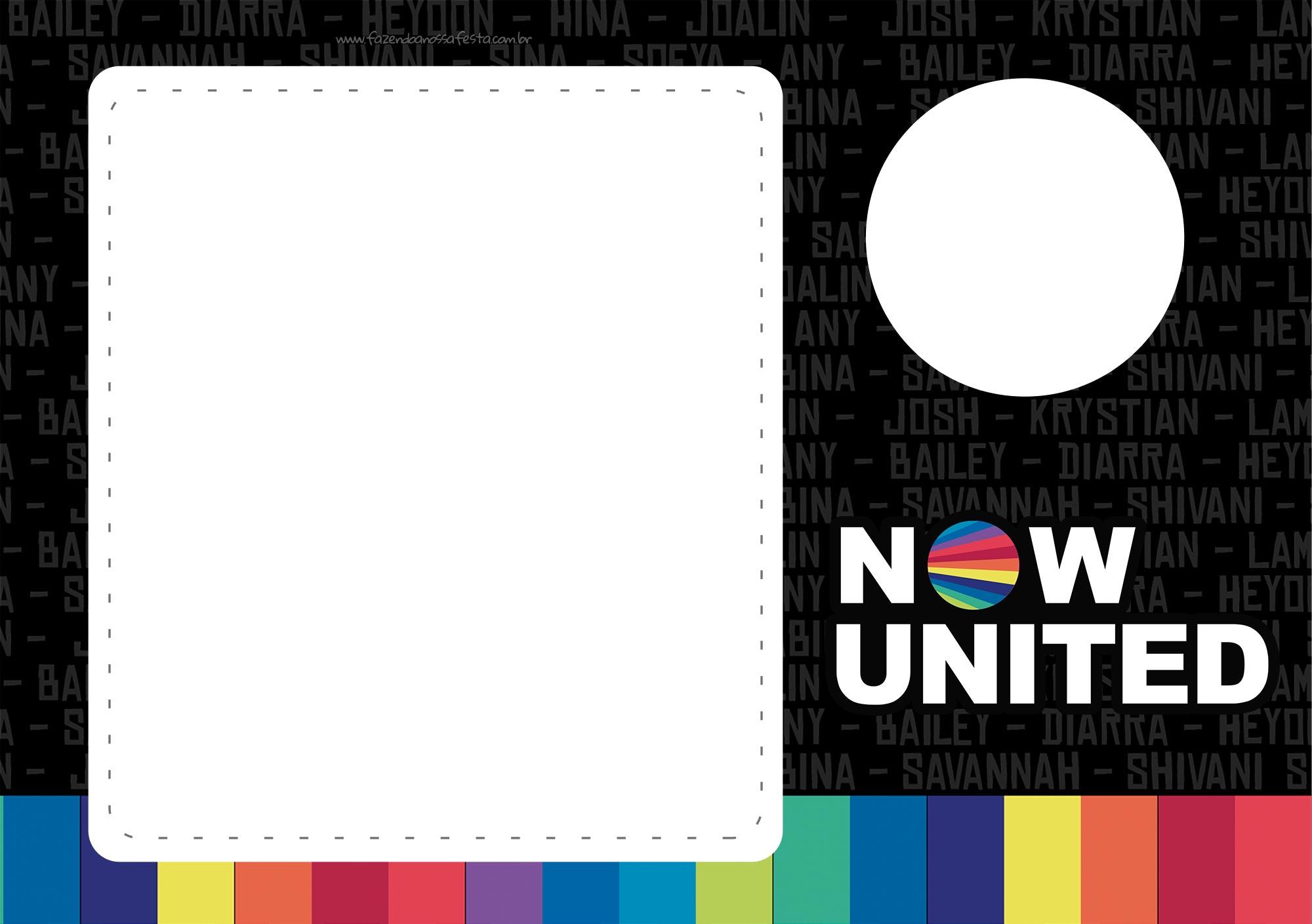 Convite Festa Now United gratis