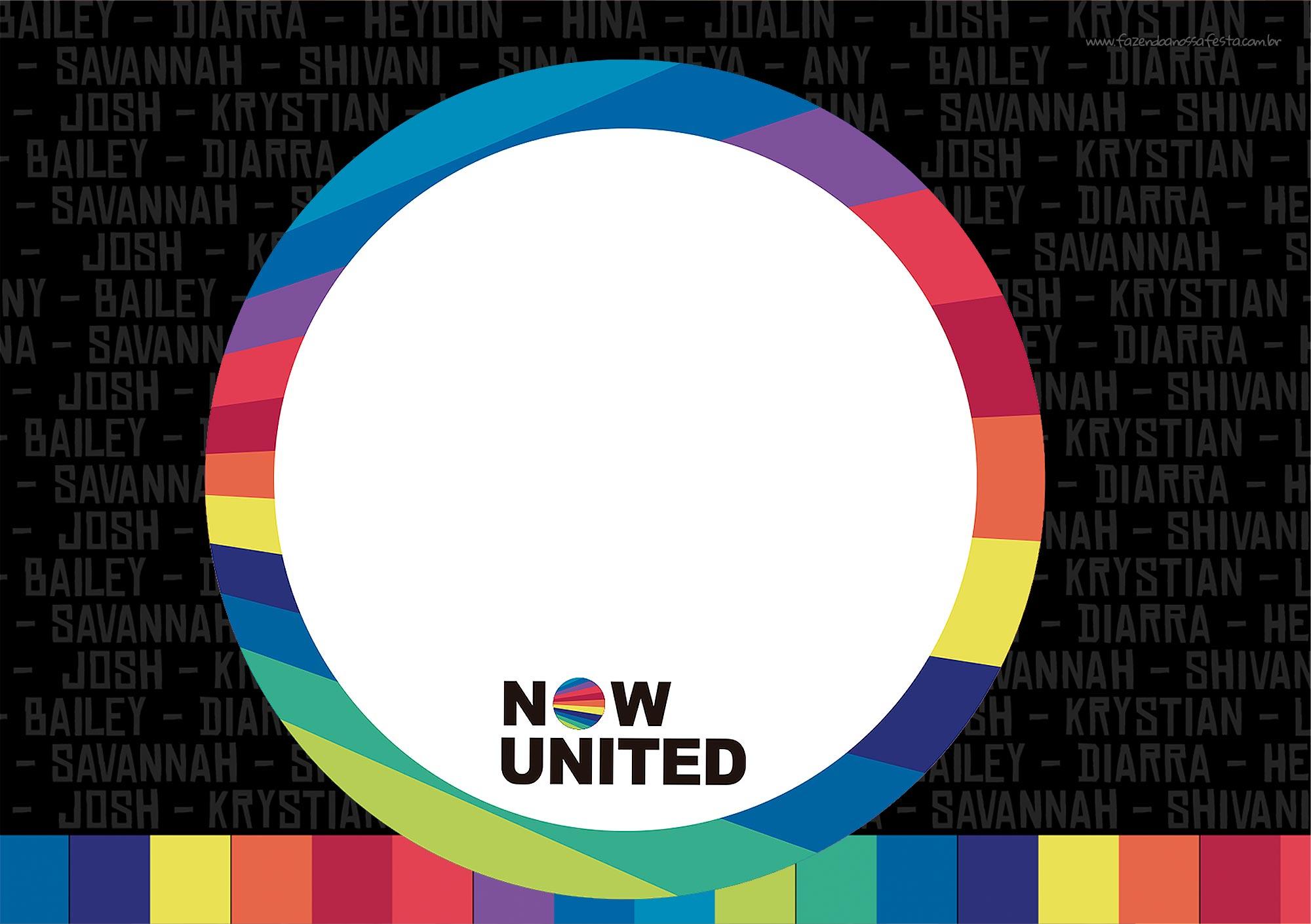 Convite Festa Now United para editar