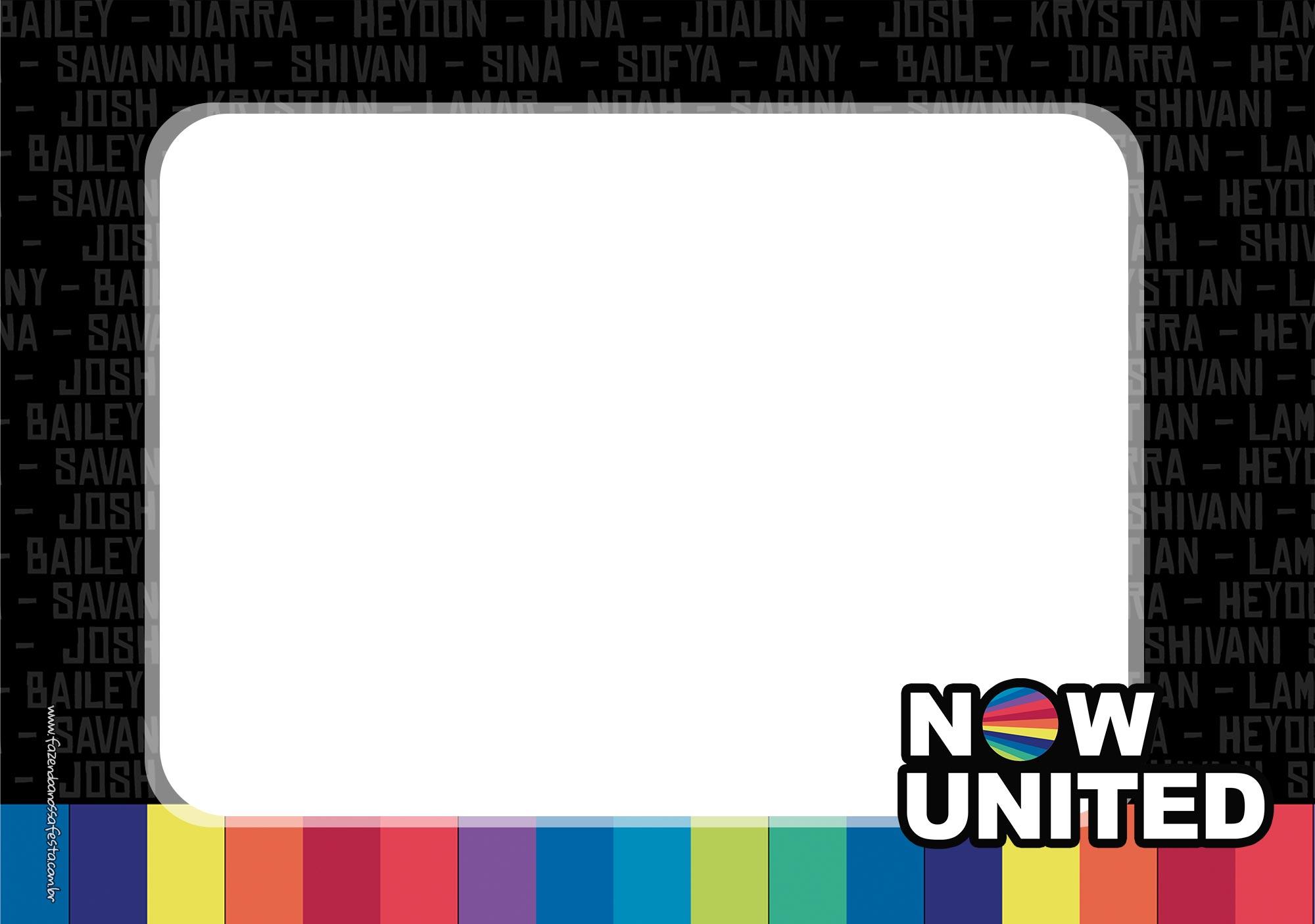 Convite Festa Now United para imprimir