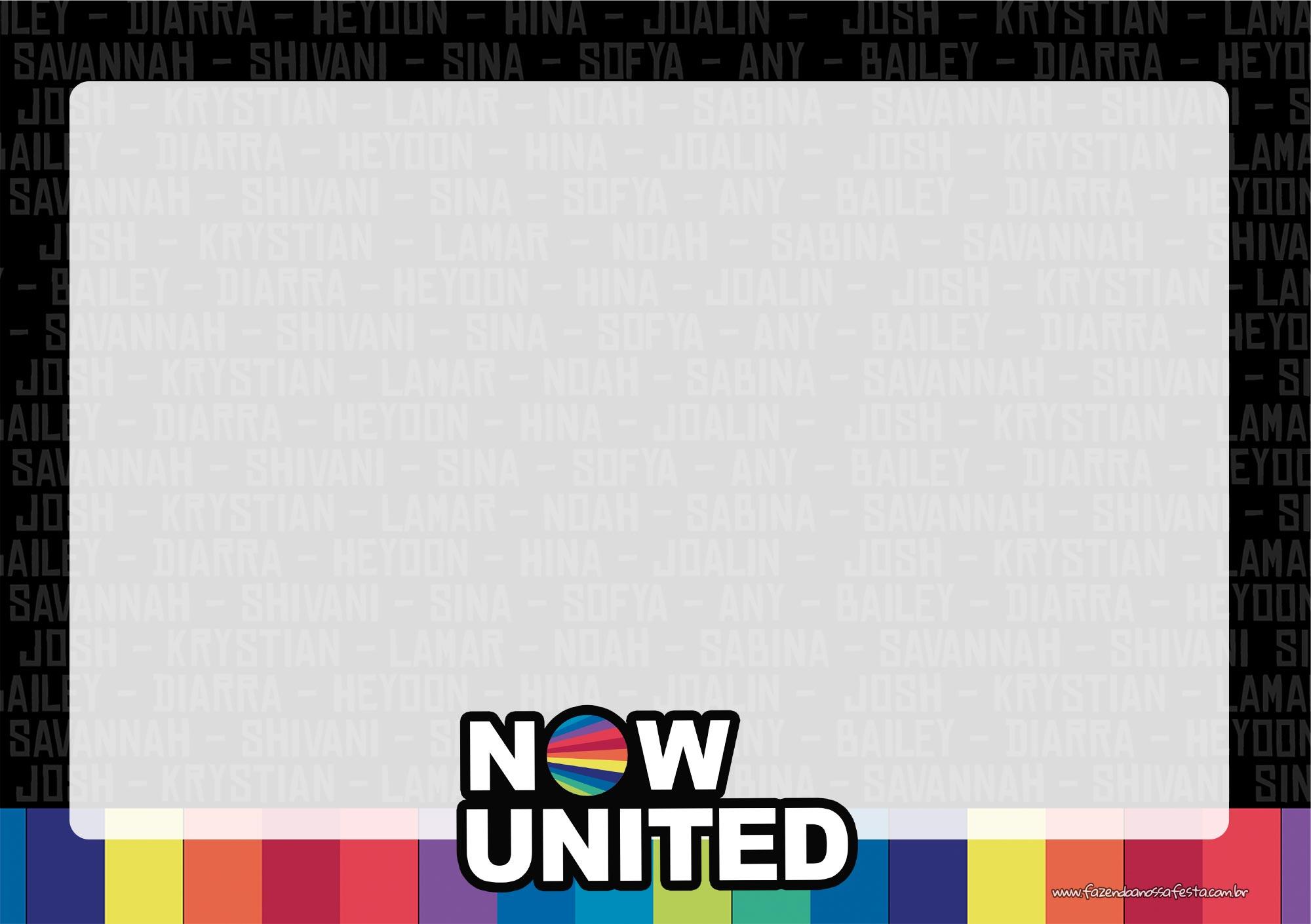 Convite Festa Now United