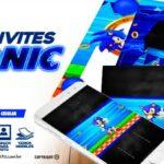 Convite Festa Sonic Gratis para Imprimir
