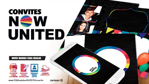 Convite Now United Gratis