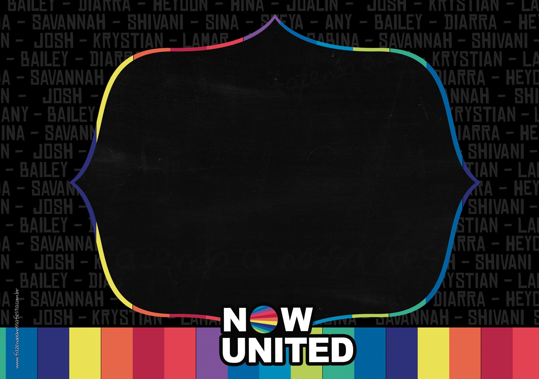 Convite Now United para editar gratis