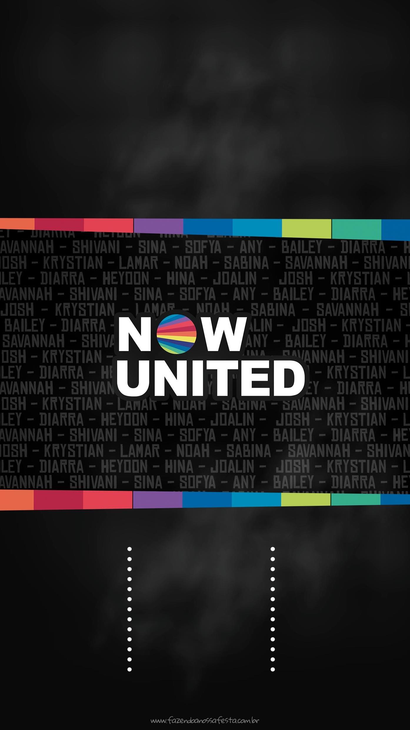 Convite Now United para imprimir