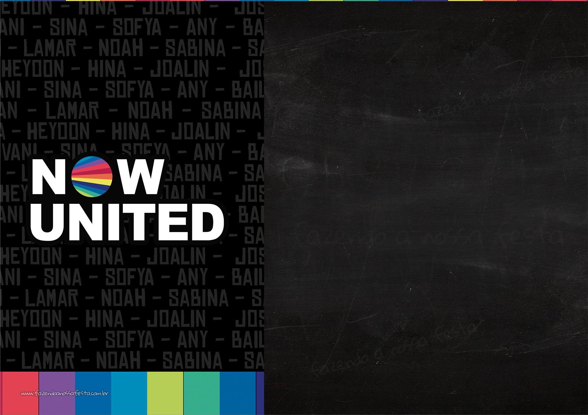 Convite de aniversario Now United