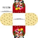 Forminha Brigadeiro 3d Natal Mickey e Minnie