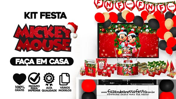 Kit Festa Natal Mickey e Minnie