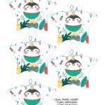 Molde Estrela de Natal Acrilica Pinguim