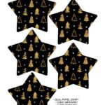 Molde Estrela de Natal Acrilica Preto