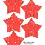 Molde Estrela de Natal Acrilica Vermelho