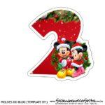 Numeros Natal Mickey e Minnie 2