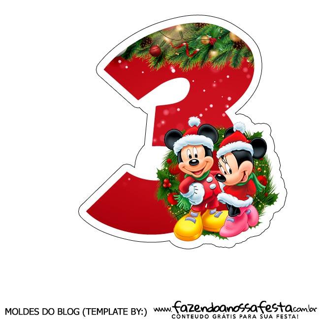 Numeros Natal Mickey e Minnie 3