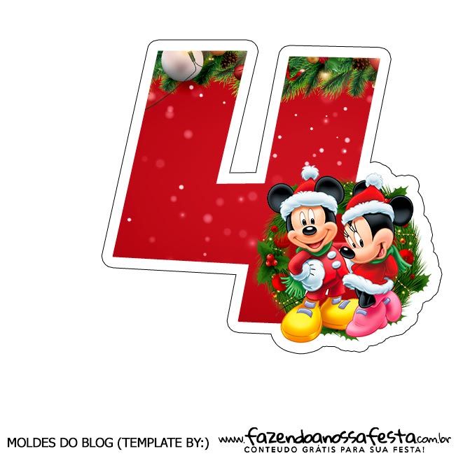 Numeros Natal Mickey e Minnie 4