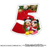 Numeros Natal Mickey e Minnie 5