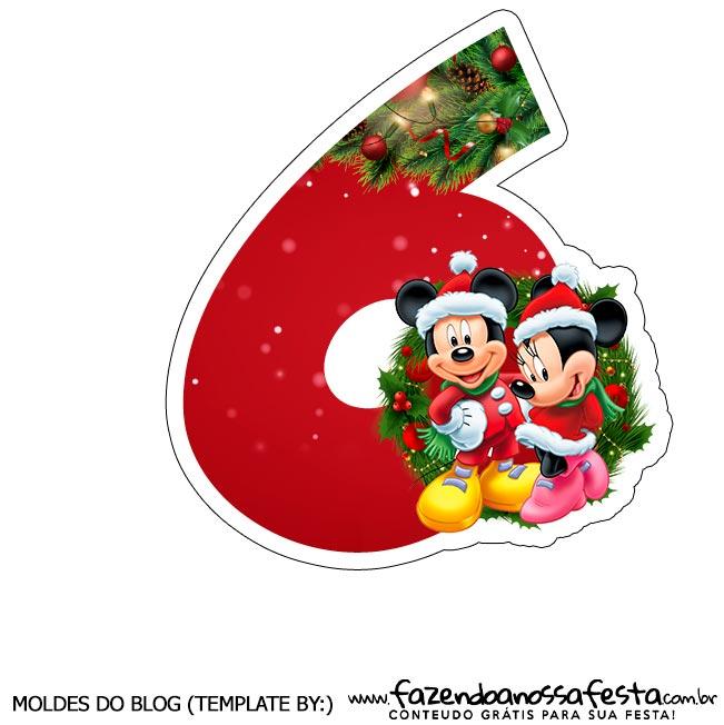 Numeros Natal Mickey e Minnie 6