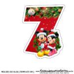 Numeros Natal Mickey e Minnie 7