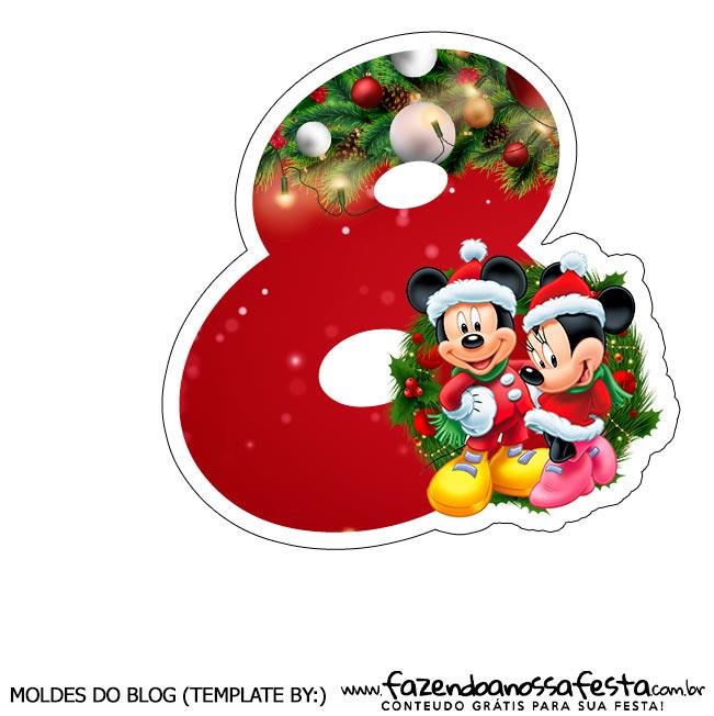 Numeros Natal Mickey e Minnie 8