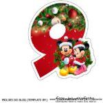 Numeros Natal Mickey e Minnie 9