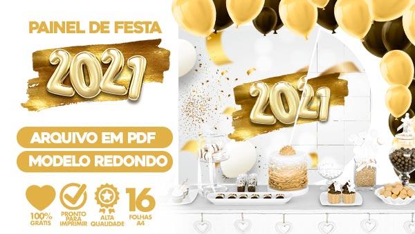 Painel Festa Ano Novo 2021