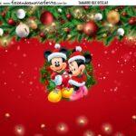 Personalizado Natal Mickey e Minnie
