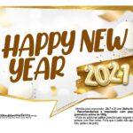 Plaquinha Ano Novo 2021 14