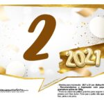 Plaquinha Ano Novo 2021 16