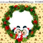 Plaquinha de Comida Natal Mickey e Minnie