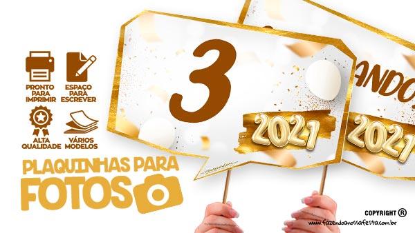 Plaquinhas Festa Ano Novo 2021 gratis