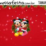 Rotulo Kit Festa Natal Mickey e Minnie Natal Mickey e Minnie