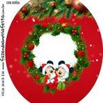 Rotulo Oval Natal Mickey e Minnie