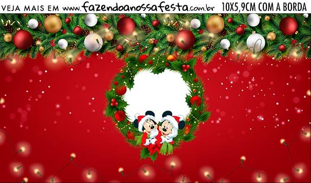 Rotulo Squeezer Kit Festa Natal Mickey e Minnie