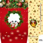 Sacolinha Supresa Festa Kit Festa Natal Mickey e Minnie