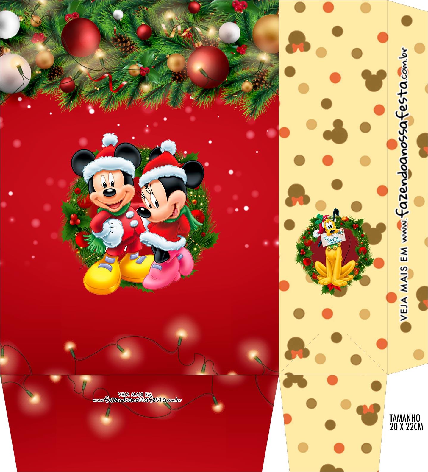 Sacolinha Surpresa Kit Festa Natal Mickey e Minnie
