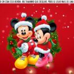 Saia Lateral de Bolo Kit Festa Natal Mickey e Minnie