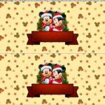 Saia de Bolo Natal Mickey e Minnie 2