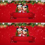 Saia de Bolo Natal Mickey e Minnie 3