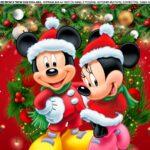 Saia de Bolo Natal Mickey e Minnie 4