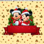 Saia de Bolo Natal Mickey e Minnie 5