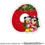 Topo de bolo Natal Mickey e Minnie 0